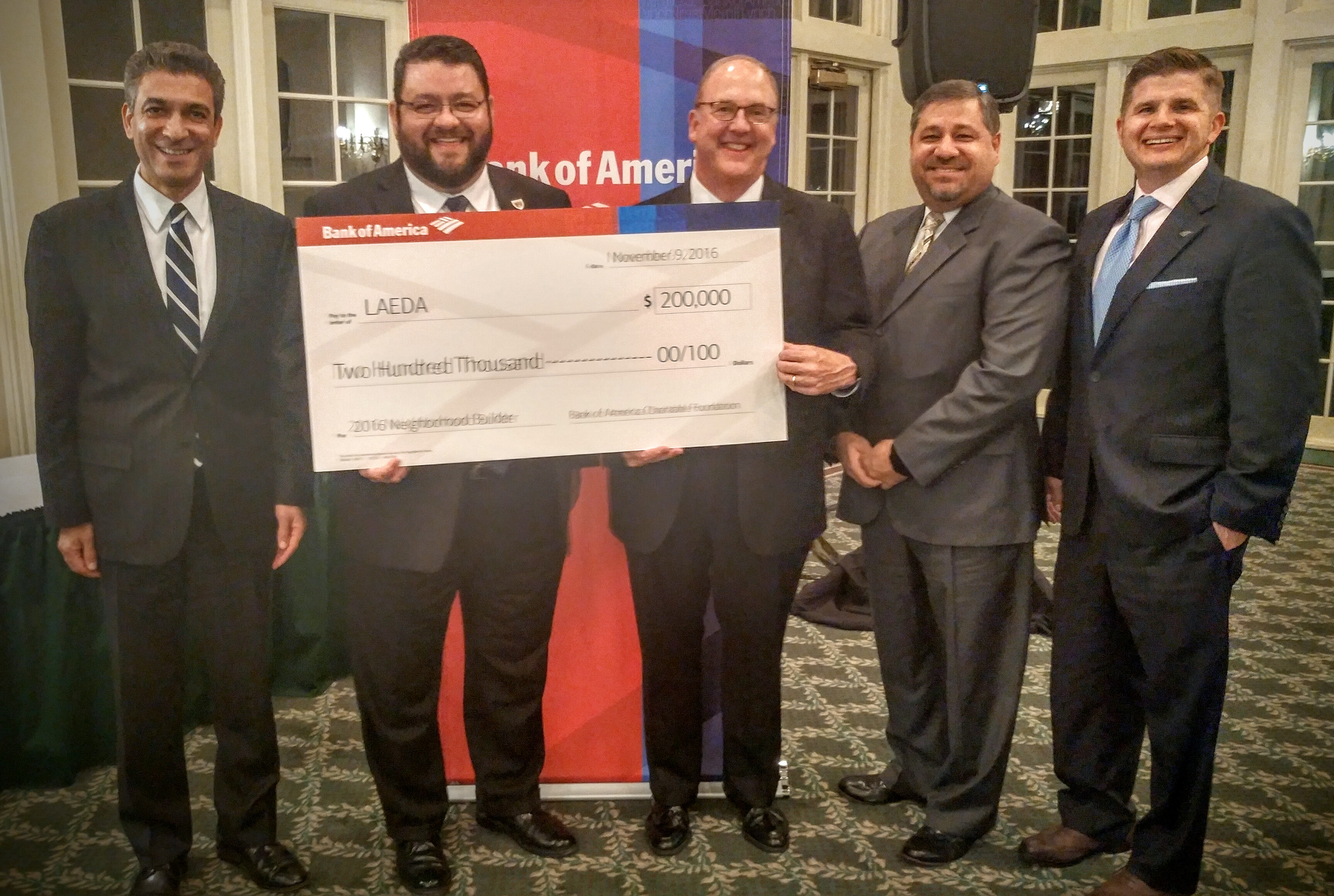Bank of America Recognizes LAEDA with the 2016 Neighborhood Builders Award