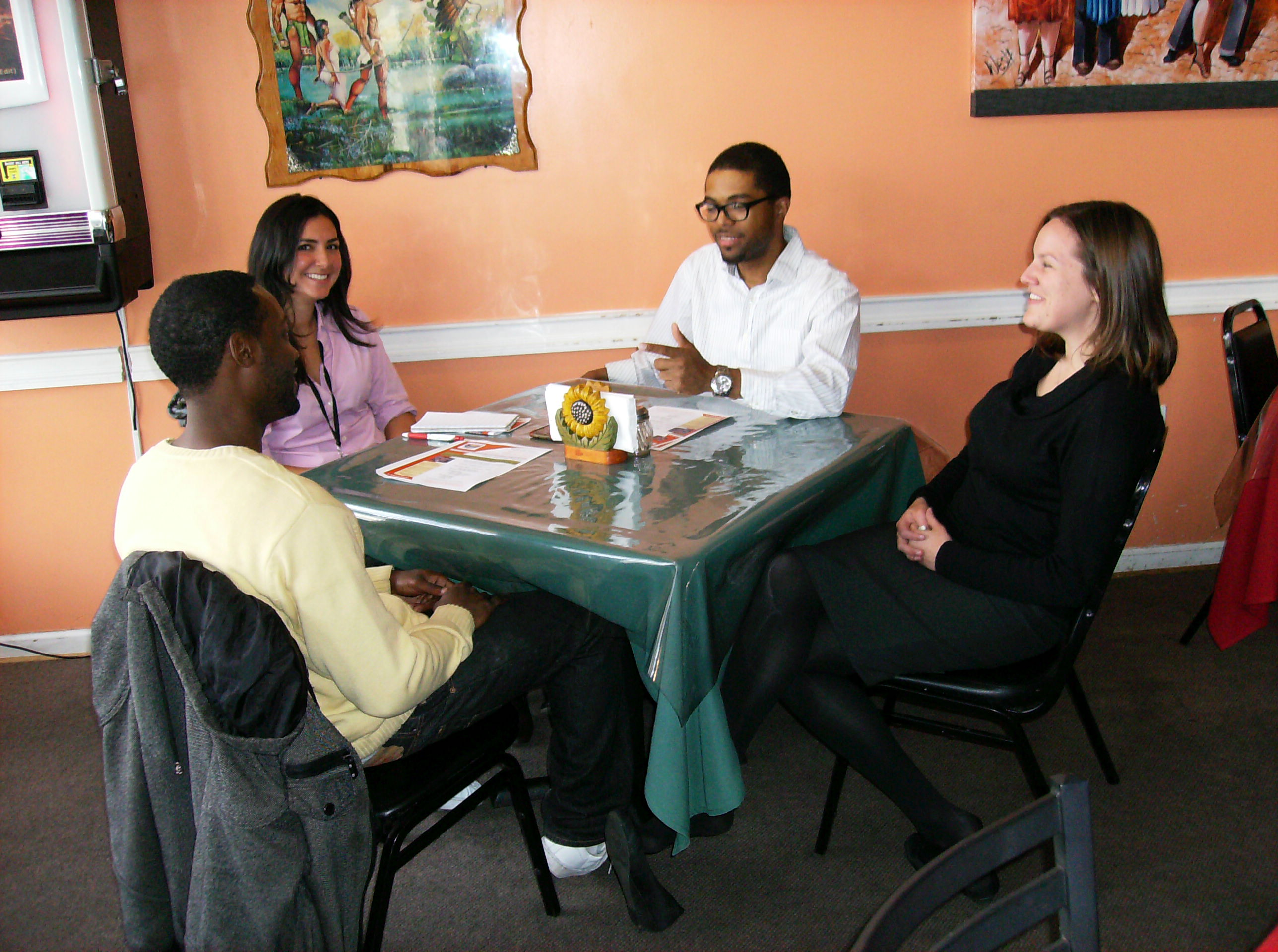 "Rutgers Students & Faculty ""Dine Around"" at San Lucas Mexican Restaurant on Federal Street"